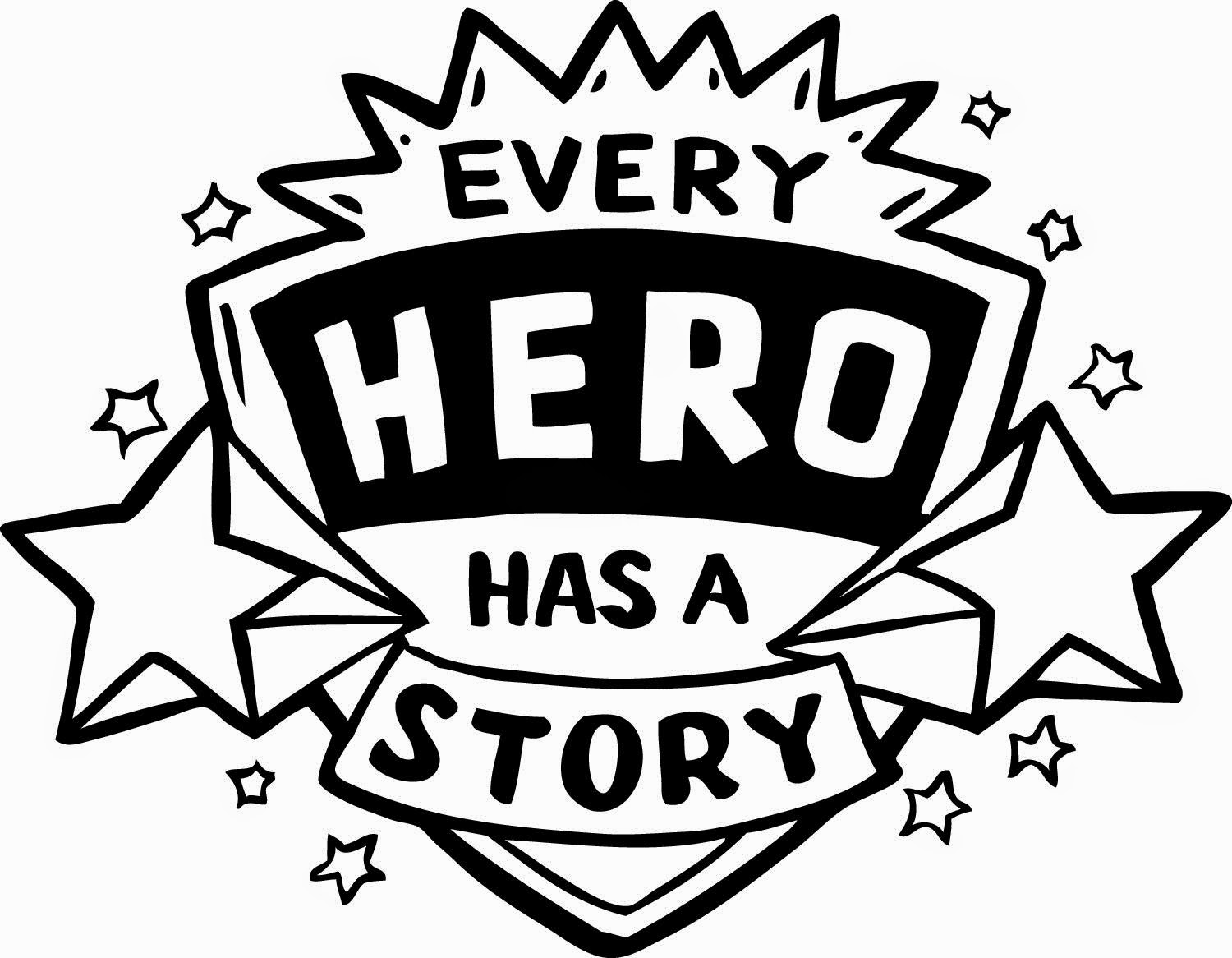 Summer reading 2015 coloring pages - Every Hero Has A Story