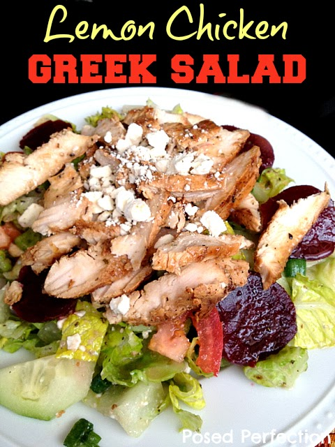 Copy Cat Lemon Chicken Greek Salad- Top 10 Recipes of 2014