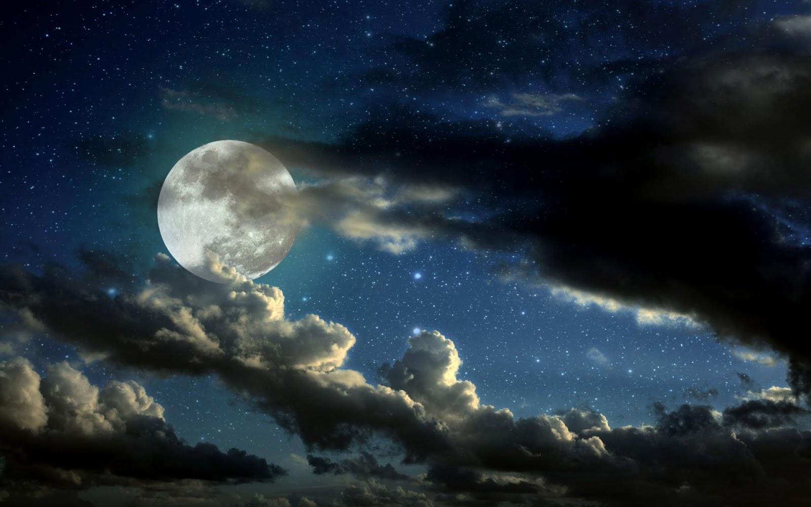 Hình ảnh chỉ mang tính chất minh họa, tối nay, 20/4/2015 bạn sẽ không thấy được Mặt Trăng, không phải thấy được trăng tròn như trong hình.