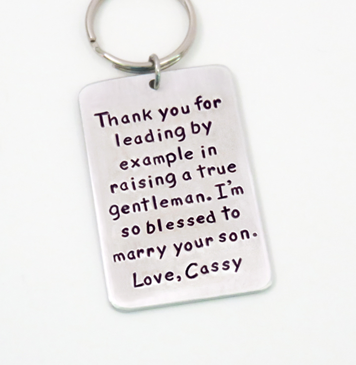 Stamped Personalized Wedding Gifts Jewelry Key Chains Funny