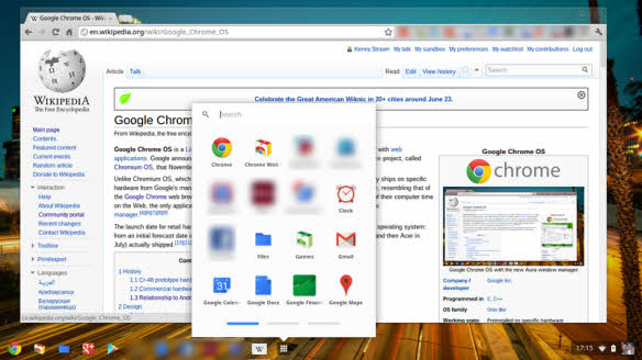 The Chrome operating system from Google