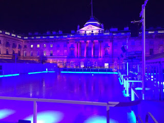 Pic of empty ice rink in courtyard of Somerset House, London