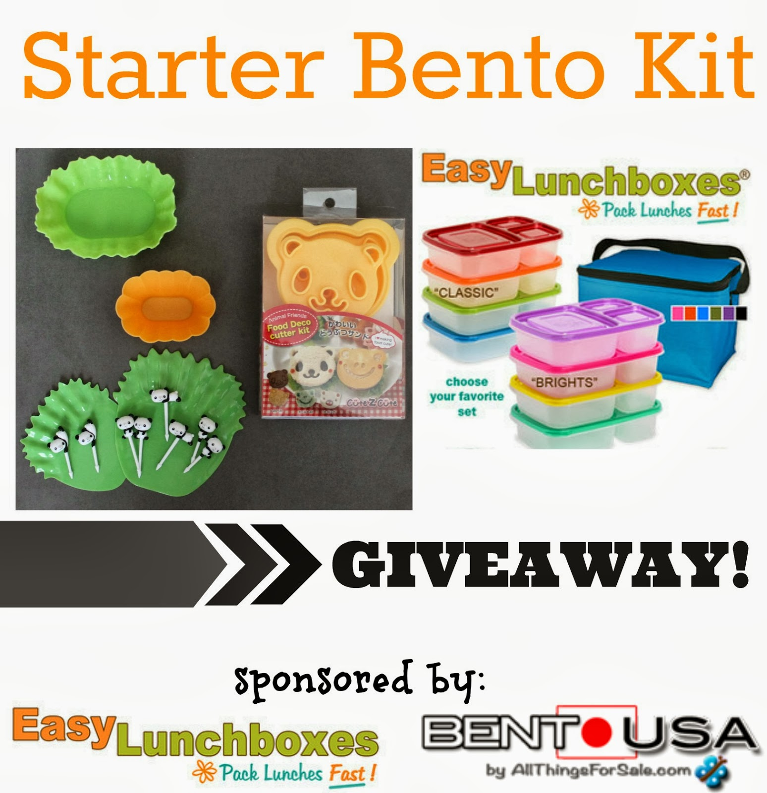 bento lunch box starter kit bento starter kit black lunch box and kawaii mamabelly 39 s. Black Bedroom Furniture Sets. Home Design Ideas