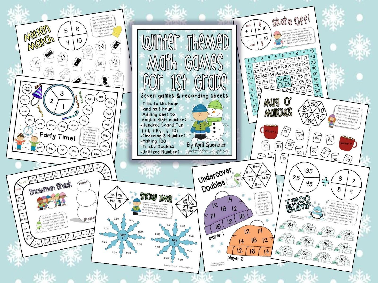 gwhizteacher: Winter Math Games