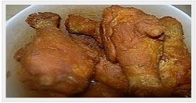 fried chicken or any pork and beef