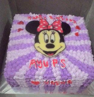 cake tema mini mouse di padang