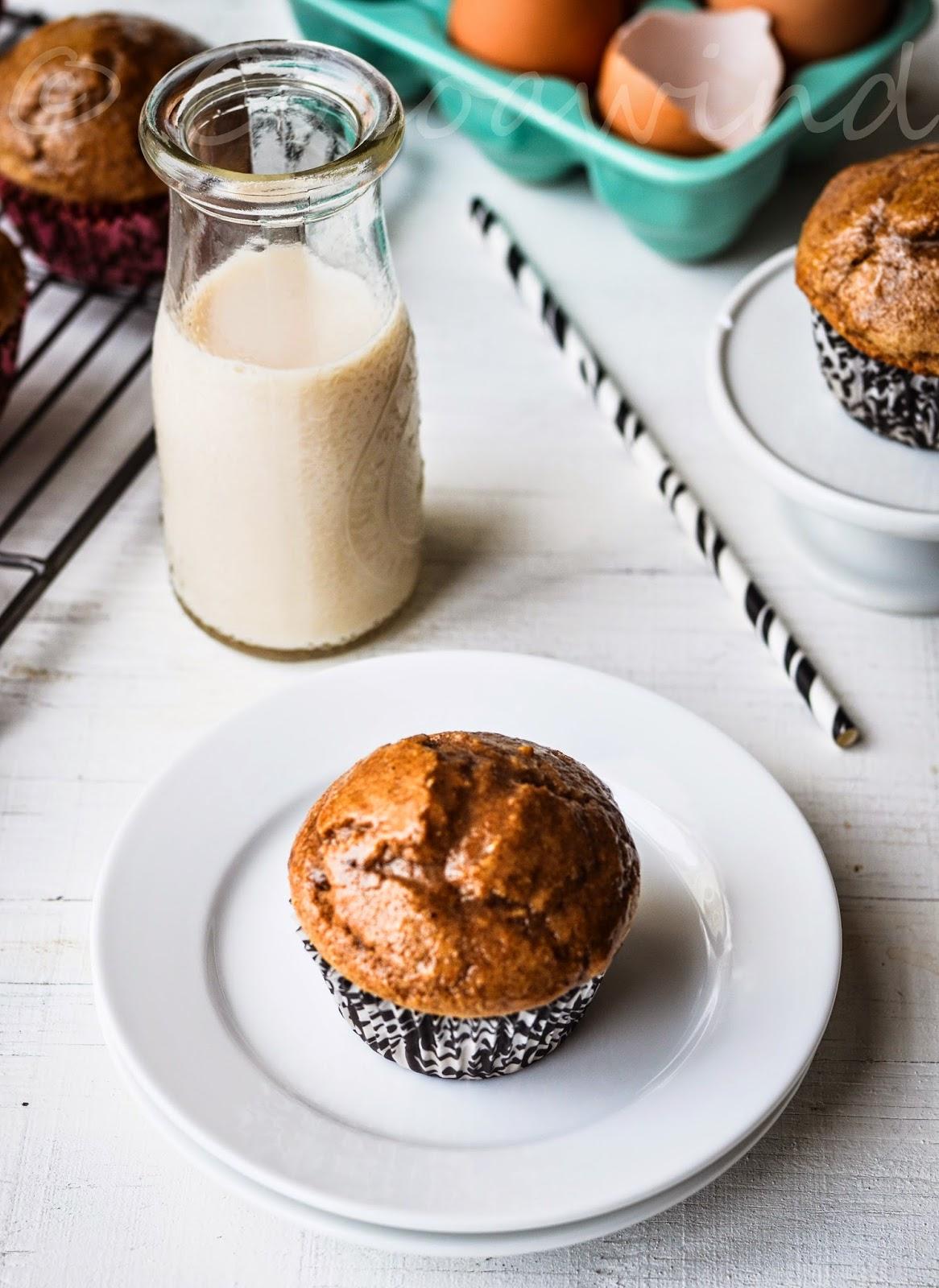 Chai Spice Glazed Muffins - Wholewheat & Eggless