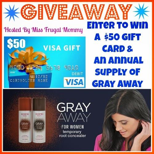 $50 Visa Gift Card & Gray Away Giveaway