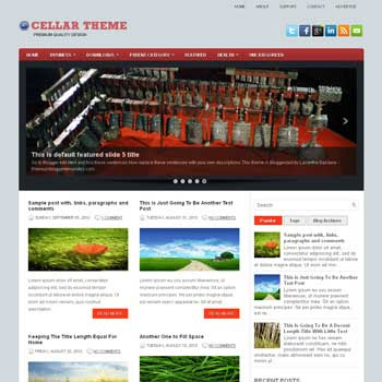 Cellar blog template. download 3 column blogger template style. magazine template blogspot