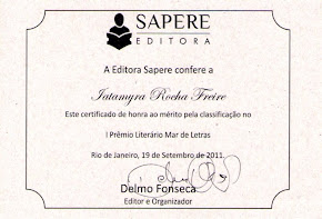 Participação I Prémio literário Mar de Letras / Sapere editora /RJ Brasil