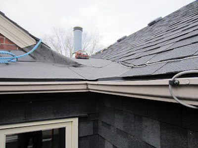 Eavestrough roof edge heater cable downspouts Toronto