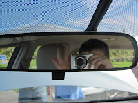 rear view mirror in Toyota Plug-in Prius