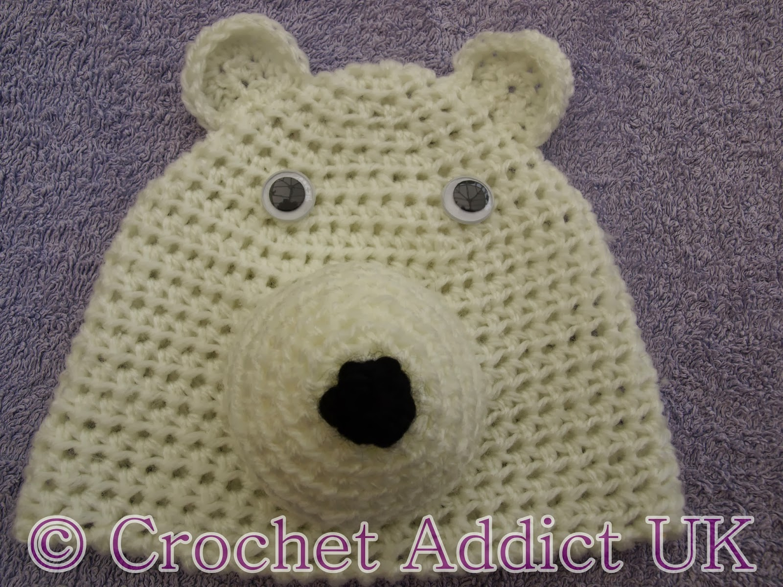 Crochet Hat Pattern For 8 Month Old : #Polar #Bear #Beanie #Hat #Newborn - 12 months ~ #Free # ...