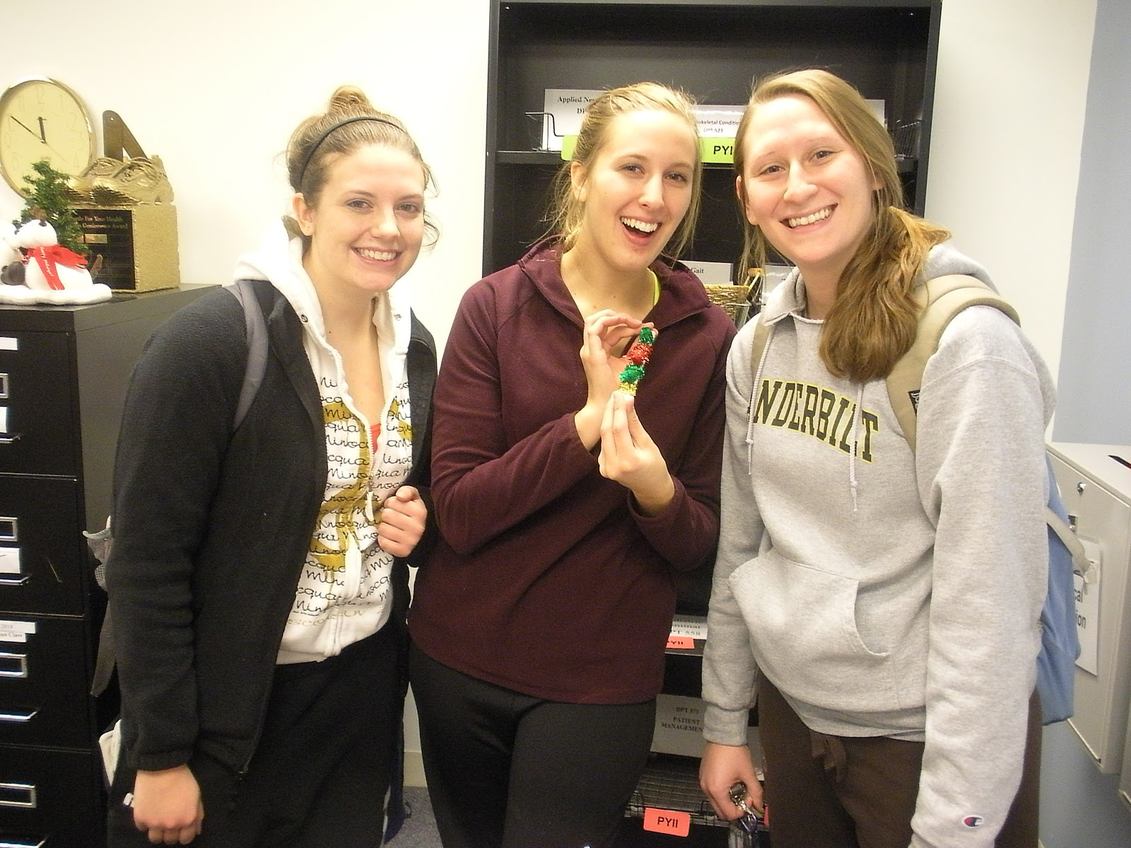 College hunter physical therapy - Pt Students Kristen Guzak Maggie Null And Vicky Cichocki Class Of 2015 Making Ornaments