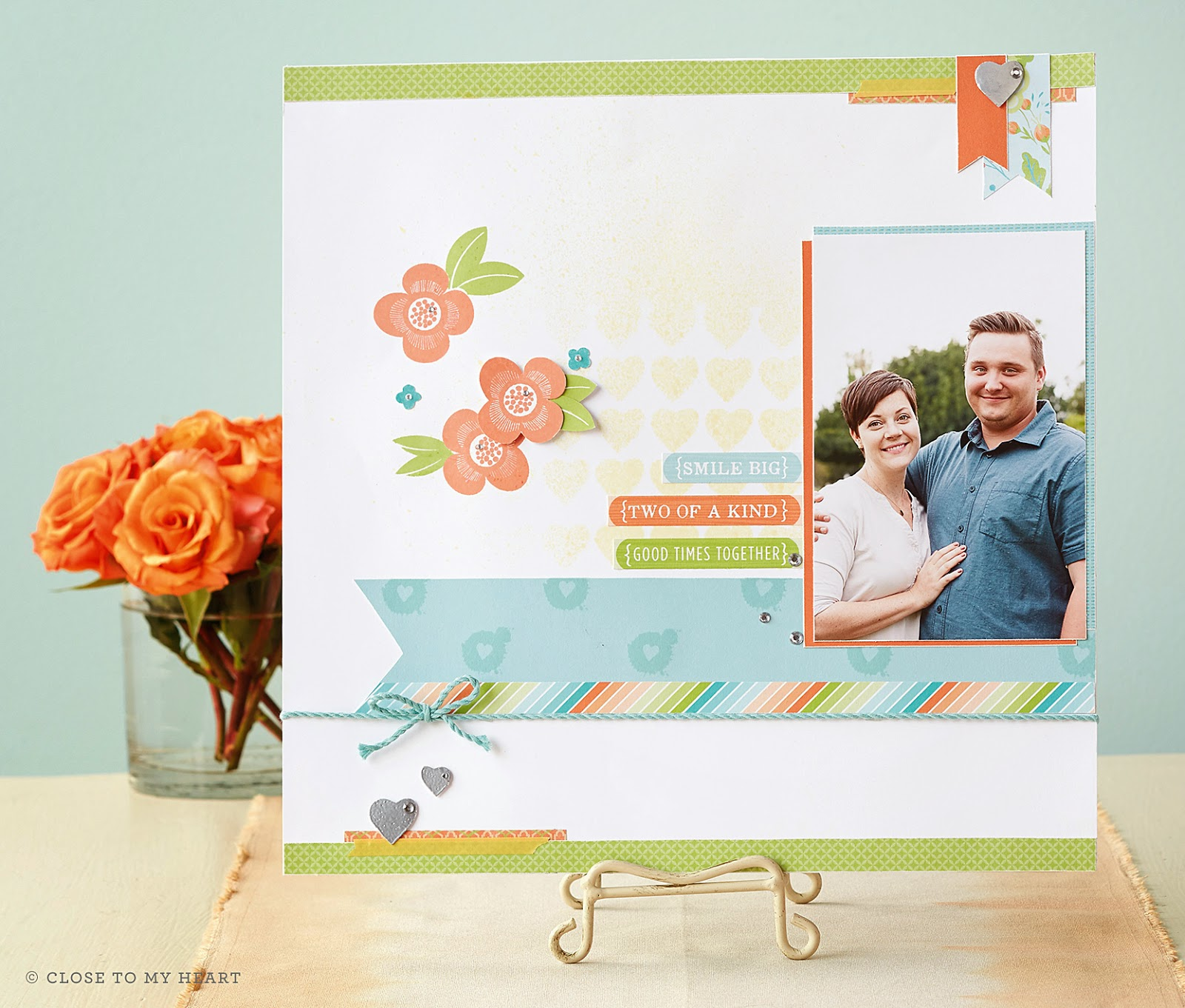 CTMH Blossom Scrapbook Layout
