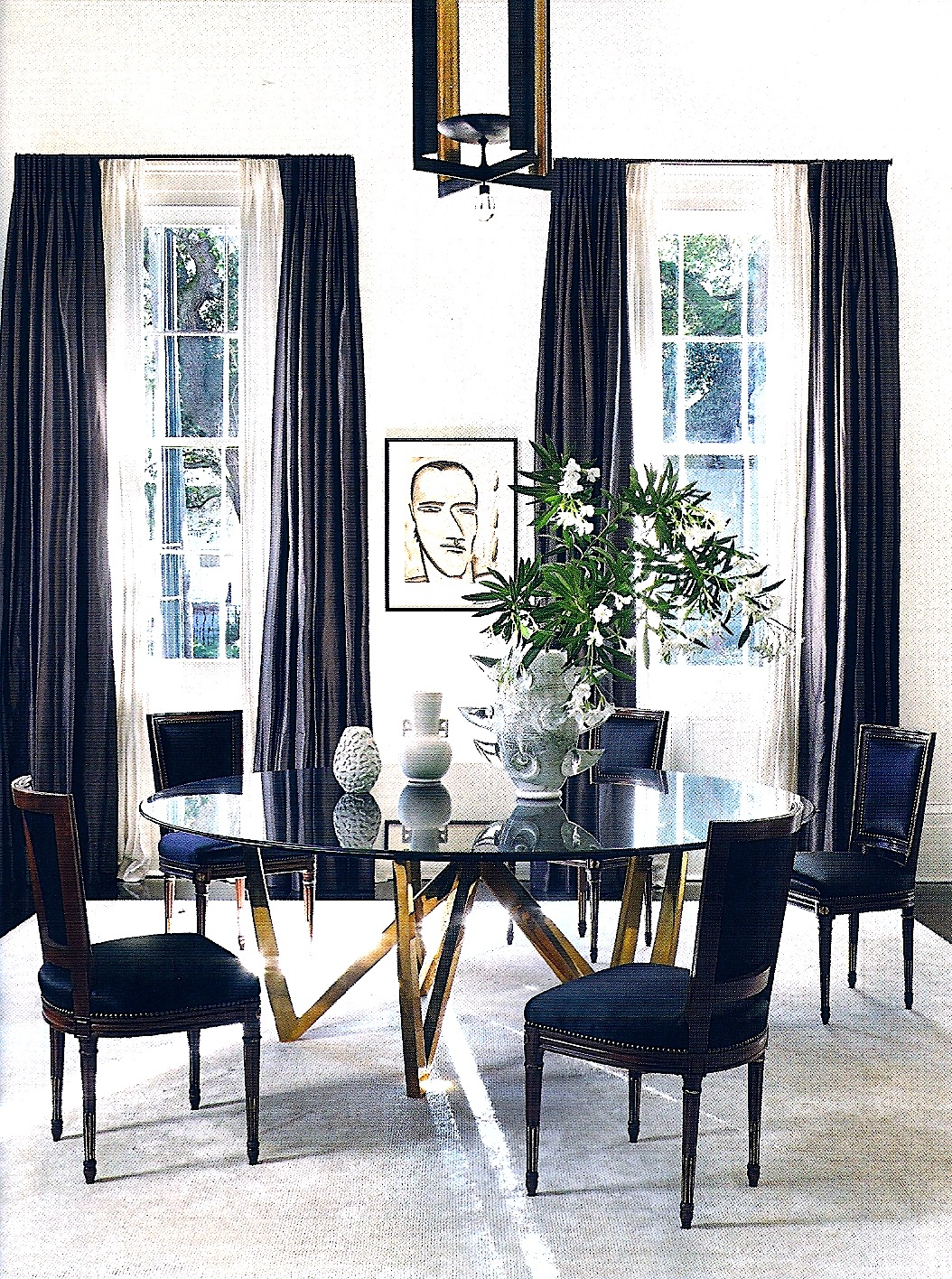 T h e v i s u a l v a m p architectural digest for Navy dining room ideas