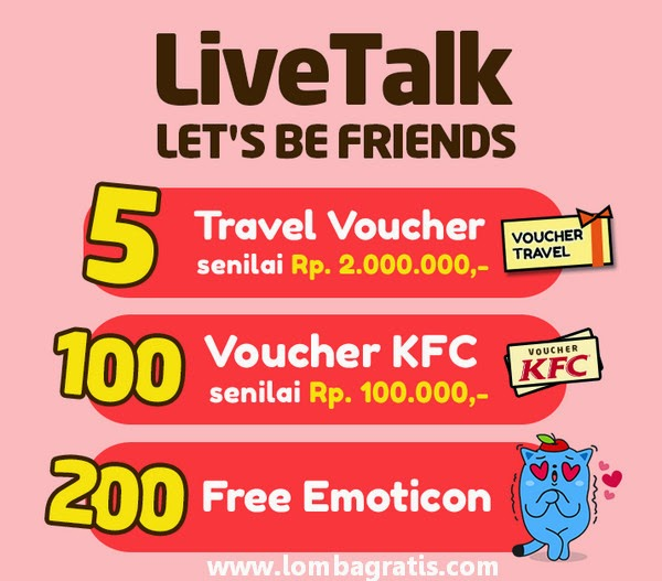 Kuis Let's Be Friend Berhadiah 5 Voucher Travel senilai 2 Juta