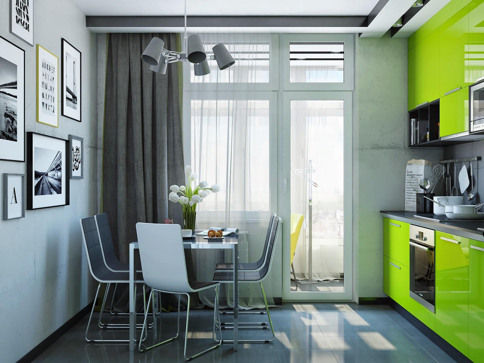 Зеленые кухни в интерьере реальные фото