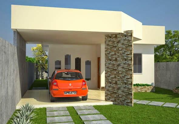 Projeto de casa popular com garagem