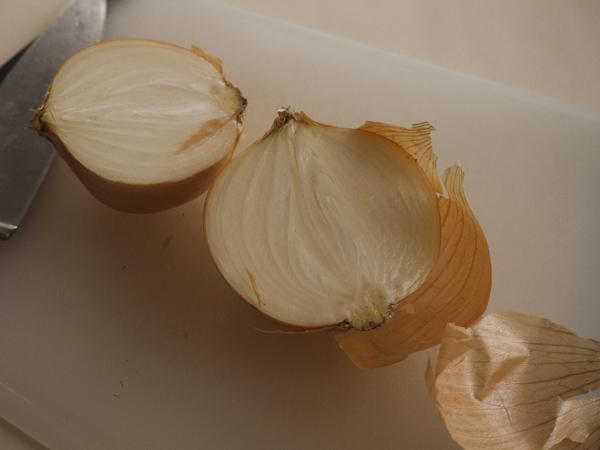 Onion, cut in half