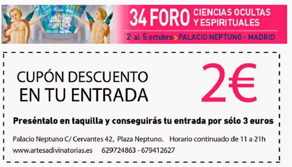 Descuento en el 34 Foro de las Ciencias Ocultas de Madrid