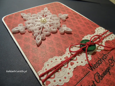 christmas card snow quilling