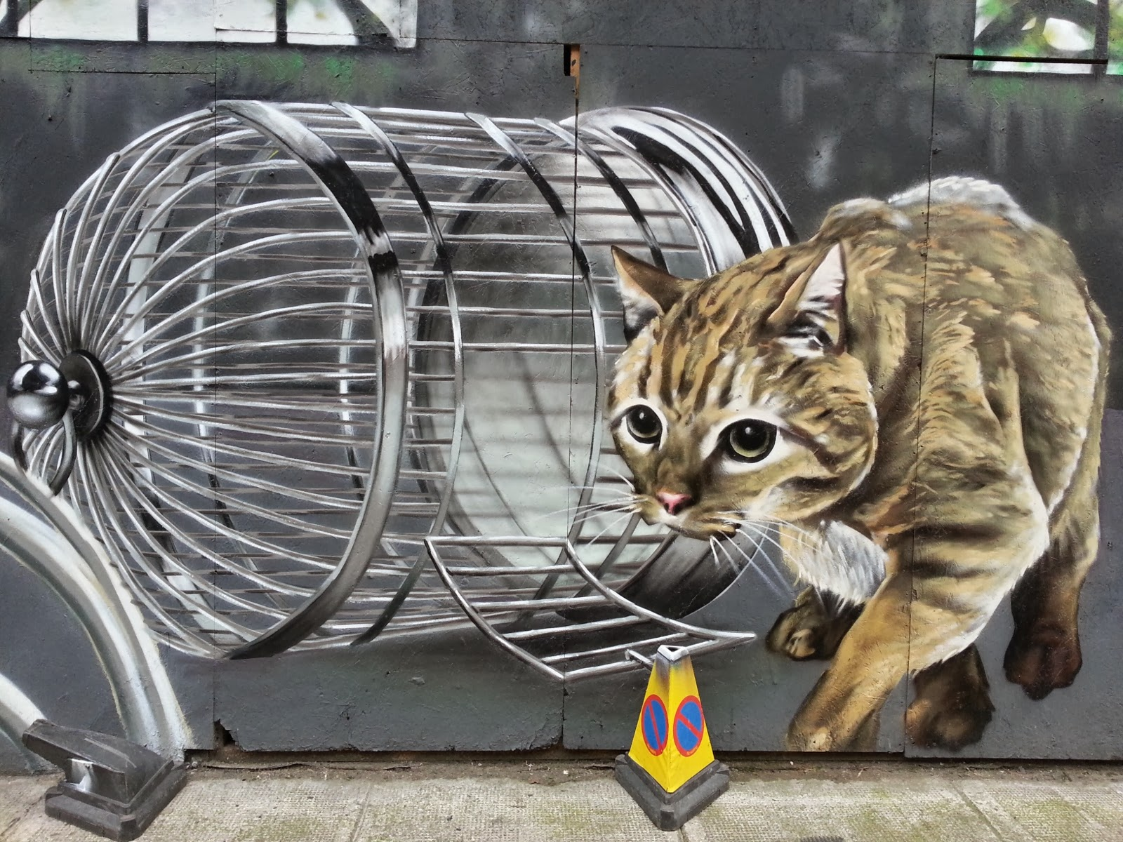 Cat , Howard Street Mural, Glasgow
