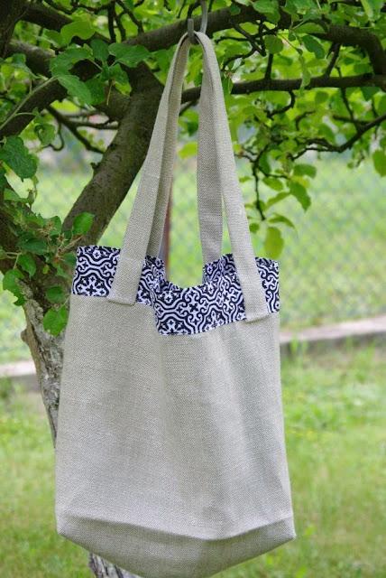 torba na zakupy, ekologiczna torba, torba z lnu