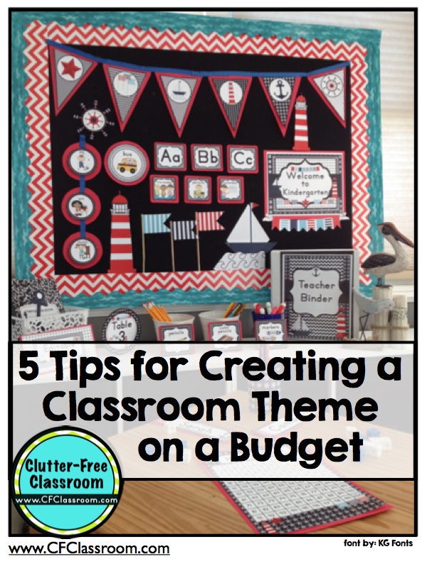 Classroom Ideas Printables ~ Tips for creating a classroom theme on budget photos