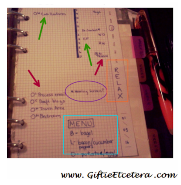 goal setting, goals, planner layout, planner spread, daily page in a planner