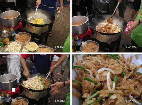 Pad Thai maken volgens een recept van de staartvenders in Thailand