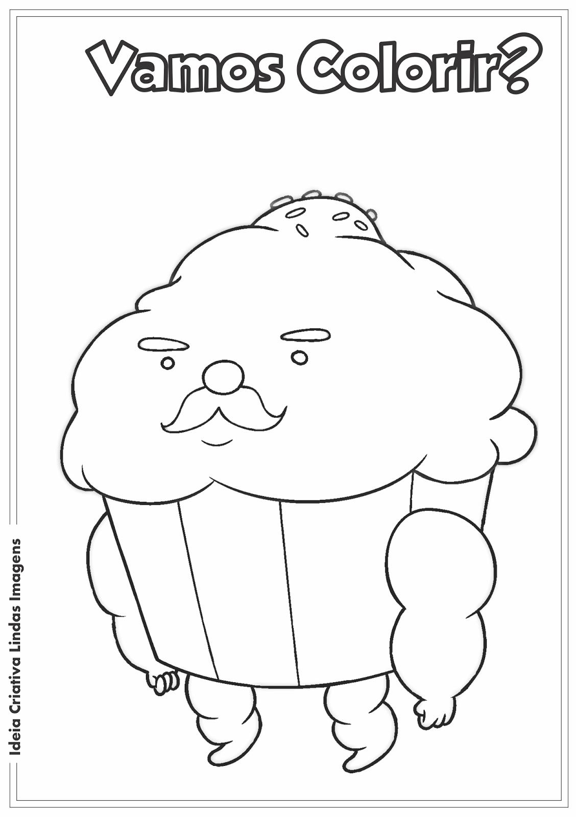 Desenho Sr.Bolinho - Hora de Aventura para colorir