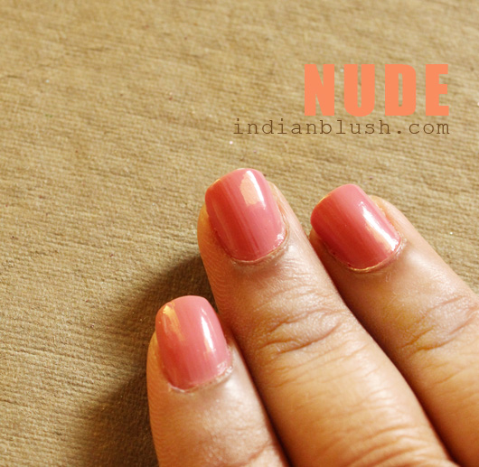 Maybelline Colorama Nailpolish Nude shade swatches