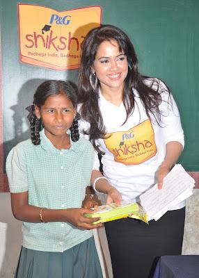 Sameera reddy at p and g shiksha diwas