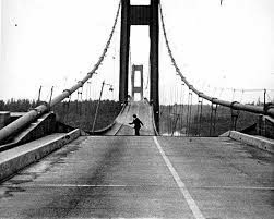 photograph of the Tacoma Narrows Bridge