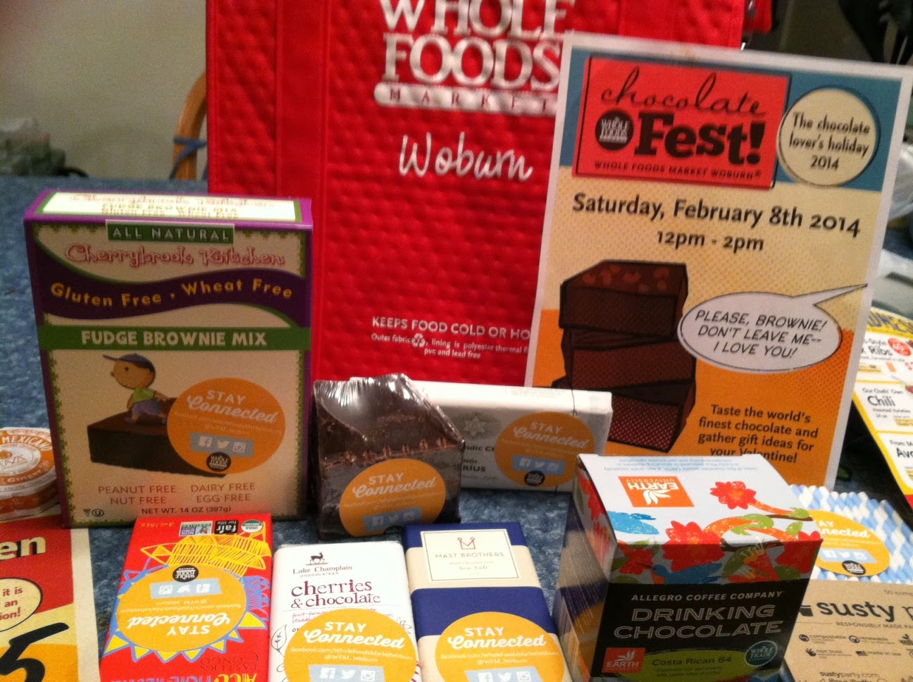 chocolate samples from Whole Foods Market for Cooking Chat ChocolateFest preview