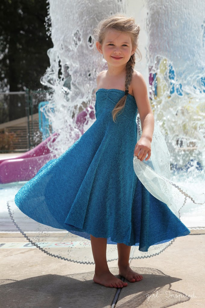 Dress up Elsa Dress and Cape sewing