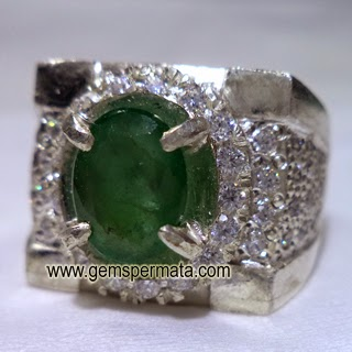Cincin Natural Emerald Beryl