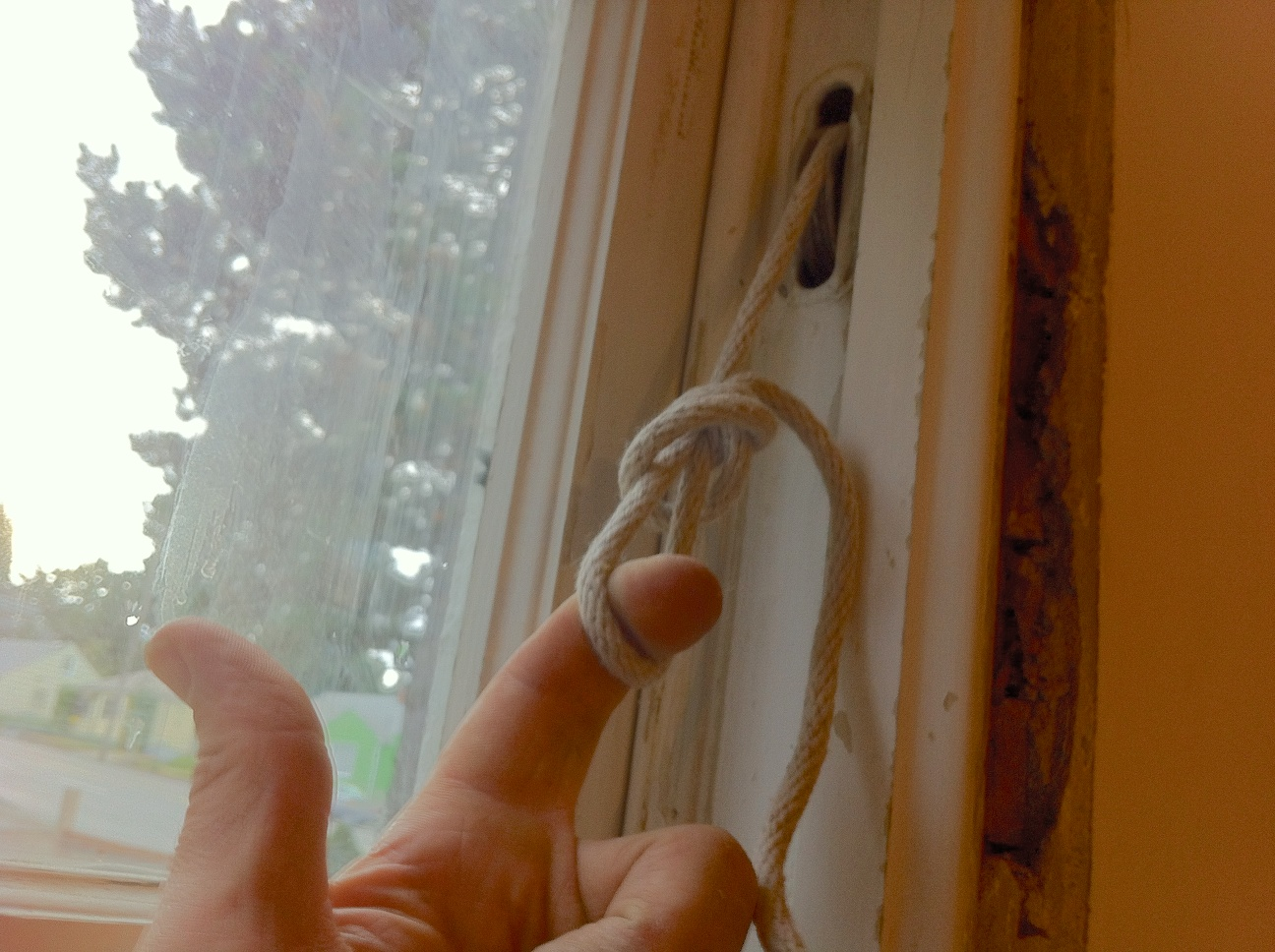 How to Repair a Broken Sash Cord in a Double-Hung Window With No Access Pocket.