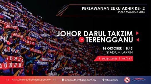 Perlawanan JDT Vs Terengganu Suku Akhir ke 2