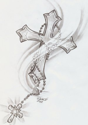 tattoo rosary designs wallpaper pictures. Black Bedroom Furniture Sets. Home Design Ideas