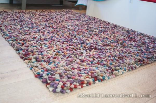 Wool felted rug