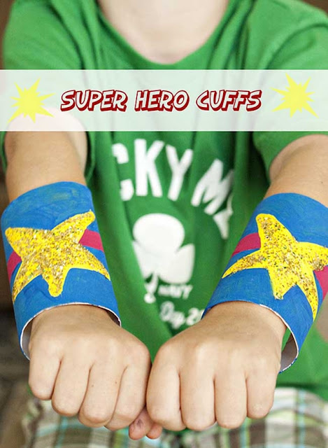Recycling Toilet Rolls - Superhero cuffs