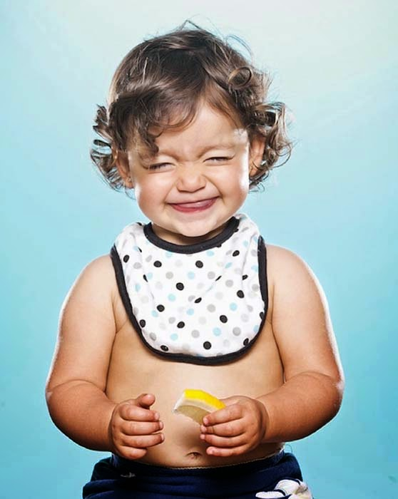 Kids Face Expressions when tasting Lemon