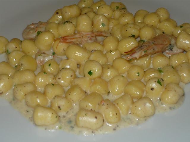 gnocchi crema di scampi