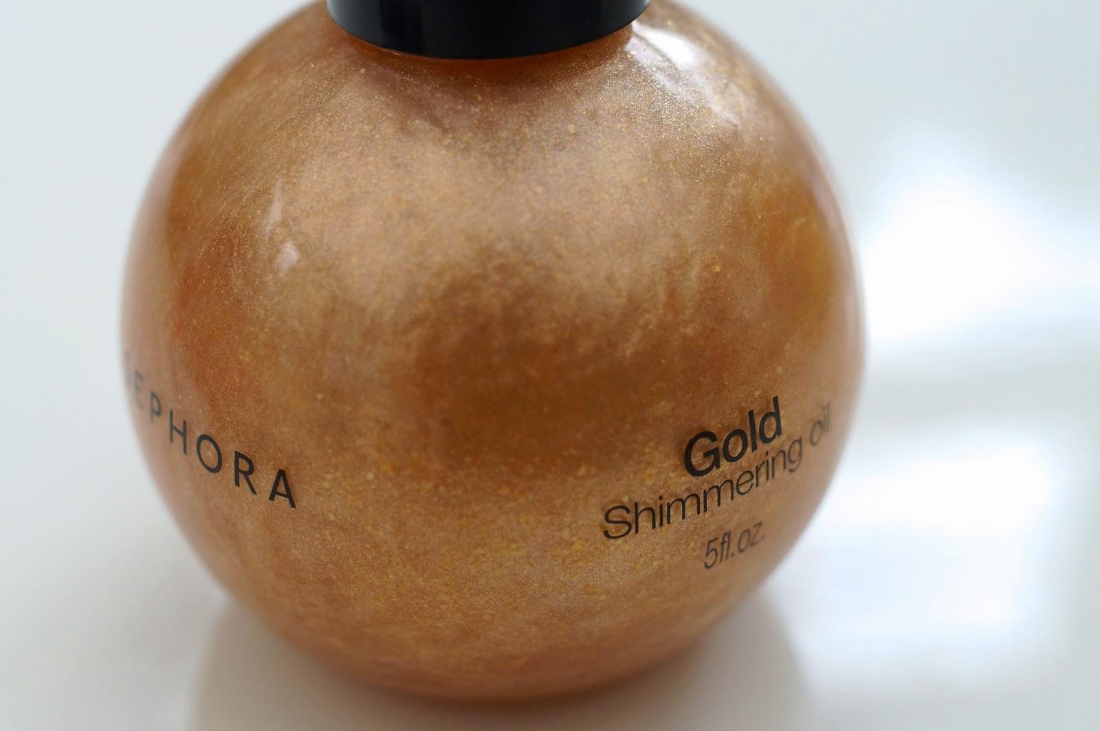 Sephora Gold Shimmering Oil
