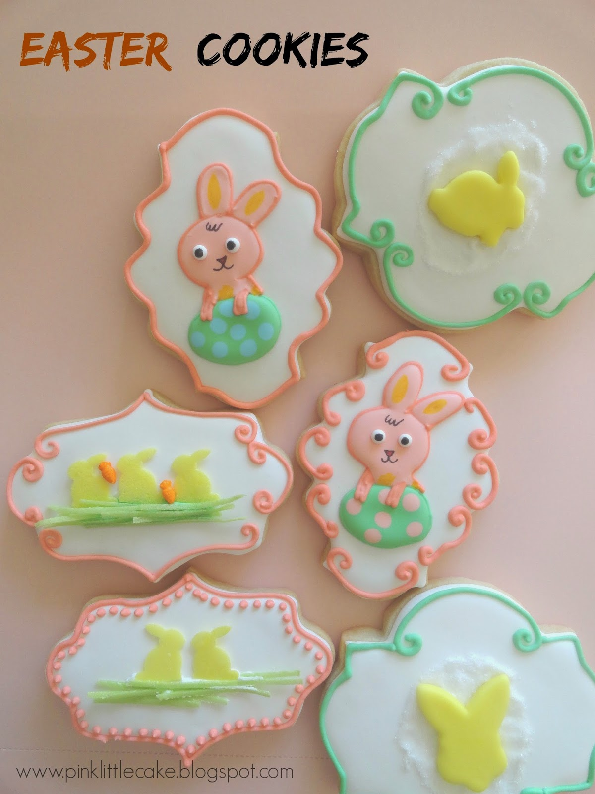 Easter Cookies using Plaque Cutters