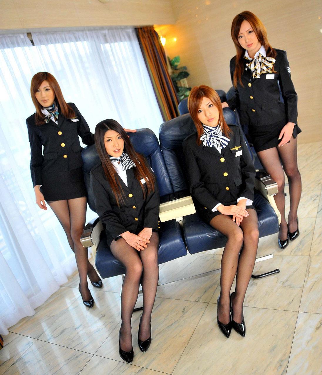 смотреть японское порно стюардессы