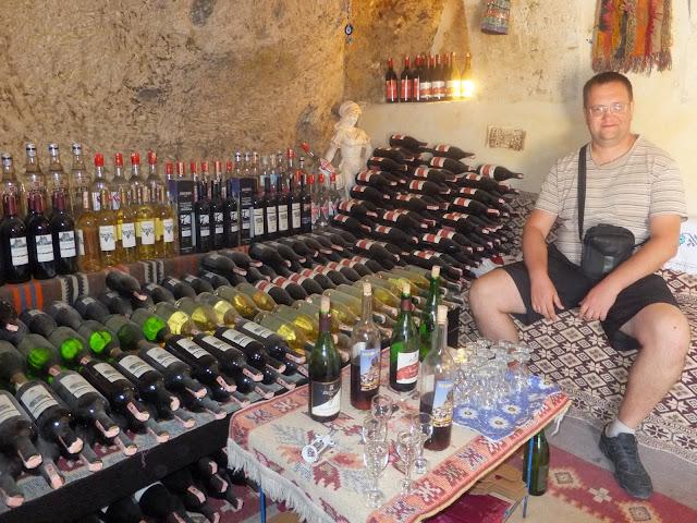 Турция Каппадокия На бесплатной дегустации домашнего вина
