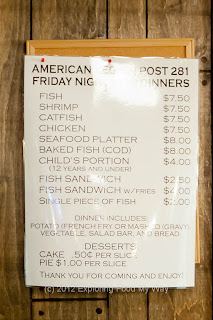 Fish Fry Menu